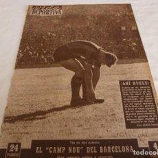 Coleccionismo deportivo: VIDA DEPORTIVA Nº:526(17-10-55)BARÇA 4 L.PALMAS 0,R.MADRID 3 AT.MADRID 2 PAZOS,KUBALA,EL CAMP NOU. Lote 150398370