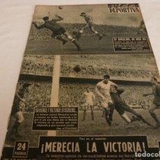 Coleccionismo deportivo: VIDA DEPORTIVA Nº:530(14-11-55) ESPAÑOL 4 AT.MADRID 1 PAZOS,R.MADRID 2 BARÇA 1 DI STEFANO,ESPAÑA-B . Lote 150401218
