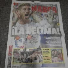 Coleccionismo deportivo: LA DECIMA MARCA DOMINGO 25 MAYO 2014 CAMPEON CHAMPIONS. Lote 150495022