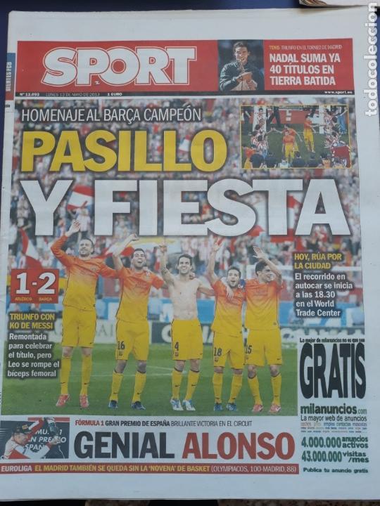 SPORT 13 MAYO 2013 N°12093 FIESTA DEL BARCELONA CAMPEÓN DE LIGA (Coleccionismo Deportivo - Revistas y Periódicos - Sport)