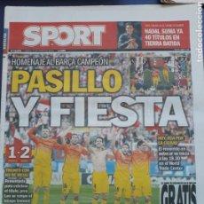 Coleccionismo deportivo: SPORT 13 MAYO 2013 N°12093 FIESTA DEL BARCELONA CAMPEÓN DE LIGA. Lote 150648310