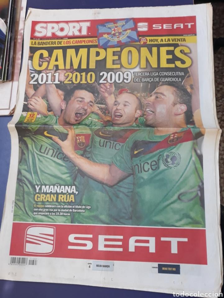 SPORT 12 DE MAYO DE 2011 N°11367 BARCELONA CAMPEON DE LIGA TRICAMPEON GUARDIOLA (Coleccionismo Deportivo - Revistas y Periódicos - Sport)