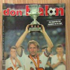 Coleccionismo deportivo: REVISTA DON BALON DB 1244 AGOSTO 1999 SUPERCOPA ESPAÑA CAMPEON VALENCIA CF POSTER LUIS FIGO BARÇA. Lote 150671002