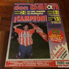Coleccionismo deportivo: REVISTA DON BALON ATLETI ATLETICO MADRID CAMPEON LIGA DOBLETE POSTER. Lote 150704414