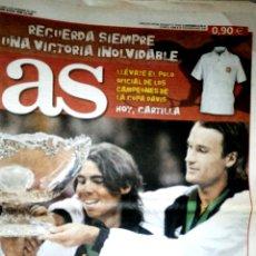 Coleccionismo deportivo: DIARIO AS ESPAÑA CAMPEONA COPA DAVIS TENIS. Lote 150762369