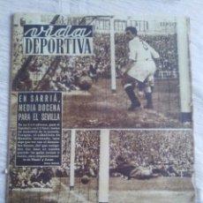 Coleccionismo deportivo: VIDA DEPORTIVA. NUM. 367 DE 22-09-1952. MAÑANA PELEA MARCIANO. VER FOTOS.. Lote 150794352