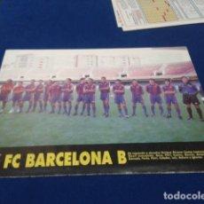 Coleccionismo deportivo: MINI POSTER + FICHA DON BALON 94 - 95 ( F.C. BARCELONA + FICHA DE LOS JUGADORES HERCULES C.F. ) . Lote 150798802
