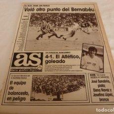Colecionismo desportivo: AS(19-9-88) TAEKWONDO,R.MADRID 2 R.SOCIEDAD 2,ARCONADA,SEVILLA 4 AT.MADRID 1,REDONDO(BOXEO). Lote 150853034