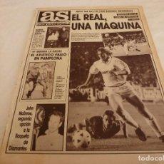 Collectionnisme sportif: AS(7-11-88)R.MADRID 4 CELTA 1,OSASUNA 2 A.MADRID 0,JOHN MCENROE,RAYO 1 CASTELLÓN 3,RENAULT-19,ALVELO. Lote 150853406
