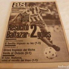 Coleccionismo deportivo: AS(28-11-88)R.SOCIEDAD 1 AT.MADRID 2,ARCONADA,RAYO1 MALLORCA 1,BETIS 1 SEVILLA 3.. Lote 206603536
