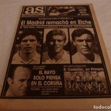 Collectionnisme sportif: AS(19-6-89)!!!BURGOS 0 CASTELLÓN 0,EL CASTELLON EN 1ª DIVISIÓN!!! ELCHE 1 R.MADRID 3.. Lote 150869546