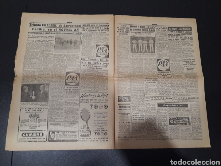 Marca 12/04/1954  at madrid,3 - coruña,1  barce - Sold at Auction