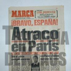 Coleccionismo deportivo: DIARIO MARCA 28 DE JUNIO DE 1984. ATRACO EN PARIS. FINAL DE LA EUROCOPA FRANCIA 2 ESPAÑA 0 TDKPR3. Lote 150986366