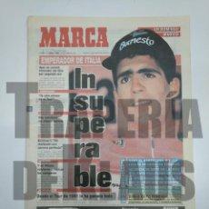 Coleccionismo deportivo: DIARIO MARCA 14 JUNIO 1993. INDURAIN INSUPERABLE. EMPERADOR GANADOR GIRO DE ITALIA. TDKPR3. Lote 150994374