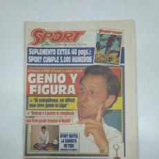 Coleccionismo deportivo: DIARIO SPORT Nº 5000. SUPLEMENTO EXTRA 10 OCTUBRE 1993. ENTREVISTA A JOHANN CRUYFF. TDKPR3. Lote 151008762