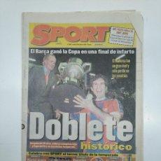 Coleccionismo deportivo: DIARIO SPORT 30 ABRIL 1998. BARSA MALLORCA. F.C. BARCELONA CAMPEON COPA DEL REY. DOBLETE. TDKPR3. Lote 151010526