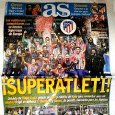 Coleccionismo deportivo: DIARIO AS ATLÉTICO CAMPEÓN SUPERCOPA DE EUROPA 2018. Lote 151019245