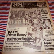 Collectionnisme sportif: AS(11-9-89)DE NUEVO EN 1ª!!! RAYO 2 VALLADOLID 1 !!!RENAULT-21,CASTELLÓN 0 R.MADRID 0.ASPAR(MOTOS). Lote 151058514