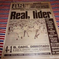 Collectionnisme sportif: AS(2-10-89)R.MADRID 4 CADIZ 1,CASTELLÓN 1 RAYO 0,AITON SENNA (FORMULA 1). Lote 151059222