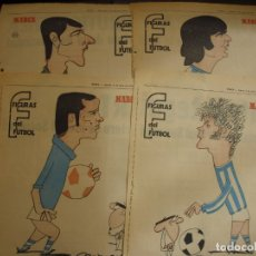 Coleccionismo deportivo: 12 HOJAS DE LA REAL SOCIEDAD FIGURAS DEL FUTBOL POR EL MAESTRO CRONOS CARICATURA Y AUTOBIOGRAFIA. Lote 151031694