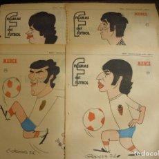 Coleccionismo deportivo: 14 HOJAS DEL REAL ZARAGOZA FIGURAS DEL FUTBOL POR EL MAESTRO CRONOS CARICATURA Y AUTOBIOGRAFIA. Lote 151033998