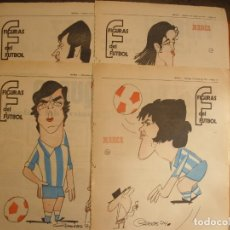 Coleccionismo deportivo: 14 HOJAS DEL MALAGA SERIAL FIGURAS DEL FUTBOL POR EL MAESTRO CRONOS CARICATURA Y AUTOBIOGRAFIA. Lote 151037346