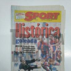 Coleccionismo deportivo: DIARIO SPORT Nº 6097. 21 OCTUBRE 1996. HISTORICA GOLEADA. BARSA F.C. BARCELONA 8 LOGROÑES 0. TDKPR3. Lote 151116418