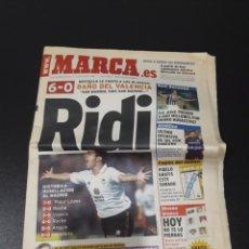 Coleccionismo deportivo: MARCA 10/06/1999. VALENCIA,6 - R.MADRID,0. SIMEONE.. Lote 151233840