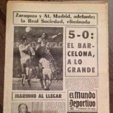 Coleccionismo deportivo: CRUYFF. FC BARCELONA. MUNDO DEPORTIVO. FCB-VOEST LINZ.74-75. Lote 151318442