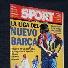 Coleccionismo deportivo: REVISTA, SPORT, SUPLEMENTO ESPECIAL LIGA 2002/2003, LA LIGA DEL NUEVO BARÇA. Lote 151364482