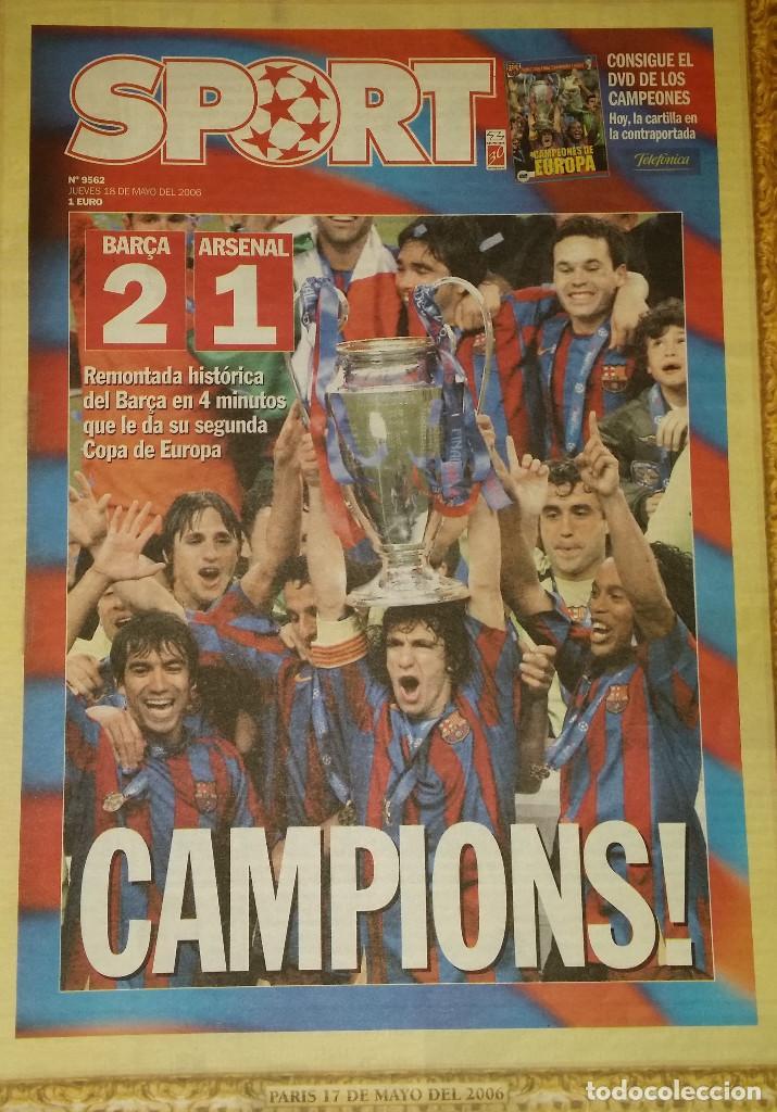 FINAL CHAMPIONS 2006 - FC BARCELONA & ARSENAL (Coleccionismo Deportivo - Revistas y Periódicos - Sport)