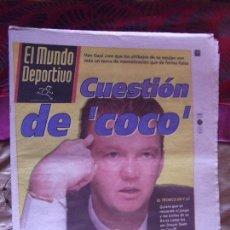 Coleccionismo deportivo: MUNDO DEPORTIVO-Nº24.158-LUNES 7 SEPTIEMBRE 1998-VAN GAAL-GUARDIOLA-AMUNIKE-CLEMENTE-C.MARTINEZ. Lote 151519890