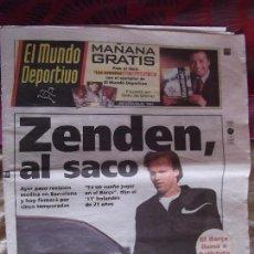 Coleccionismo deportivo: MUNDO DEPORTIVO-Nº24.057-VIERNES 29 MAYO 1998-ZENDEN-NADAL-PIZZI. Lote 151521330