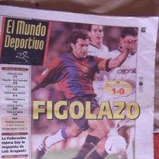 Coleccionismo deportivo: MUNDO DEPORTIVO-Nº24.164-DOMINGO 13 SEPTIEMBRE 1998-FIGO-HESP-VAN GAAL-KLUIVERT-PELLEGRINO. Lote 151524202
