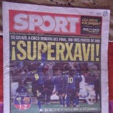 Coleccionismo deportivo: SPORT-Nº9046-12 DICIEMBRE 2004-XAVI-ETO-RONALDINHO. Lote 151525778