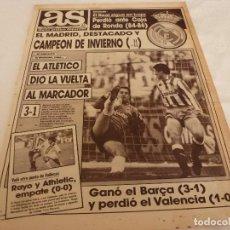 Coleccionismo deportivo: AS(15-1-90)AT.MADRID 3 SPORTING 1,RAYO 0 ATH.BILBAO 0,MIGUEL INDURAIN,CASTILLA 3 HUELVA 2.. Lote 151568246