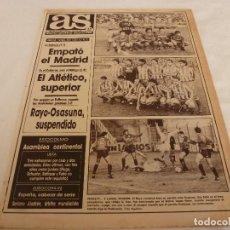 Coleccionismo deportivo: AS(1-2-90)VALENCIA 1 R.MADRID 1,AT.MADRID 2 MÁLAGA 0,SUSPENDIDO EL RAYO-OSASUNA.SUPER EPI(BASKET). Lote 151569074