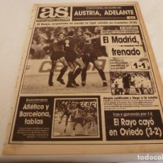Coleccionismo deportivo: AS(5-2-90)R.MADRID 1 MALLORCA 1,CASTELLÓN 1 BARÇA 0,OVIEDO 3 RAYO 2,CITROEN BX. Lote 151569842