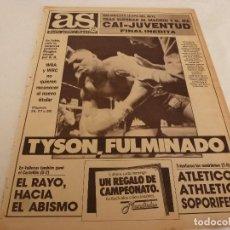 Coleccionismo deportivo: AS(12-2-90)MIKE TYSON K.O ANTE DOUGLAS EN TOKIO!!!! RAYO 0 CASTELLÓN 2,BARÇA 1 MALLORCA 1.. Lote 151570166