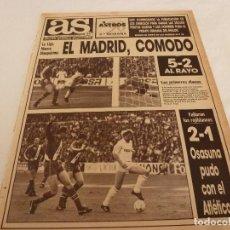Coleccionismo deportivo: AS(26-2-90)R.MADRID 5 RAYO 2,OSASUNA 2 AT.MADRID 1,ASPAR(MOTOS)VENCE EN JEREZ!!!. Lote 151571146