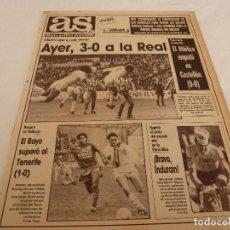 Coleccionismo deportivo: AS(12-3-90)INDURAIN,R.MADRID 3 R.SOCIEDAD 0,RAYO 1 TENERIFE 0,CASTELLÓN 0 AT.MADRID 0.. Lote 151571746