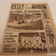 Coleccionismo deportivo: AS(19-3-90)EL BURGOS VUELA A 1ª DIV. 3-0 AL DEPOR,AT.MADRID 2 MALLORCA 0,CELTA 0 RAYO 0.CHAVEZ(BOXEO. Lote 151571966