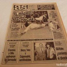 Coleccionismo deportivo: AS(26-3-90)R.MADRID 5 TENERIFE 2,RAYO 0 LOGROÑÉS 2,CARDÚS Y SITO PONS(MOTOS). Lote 151572310