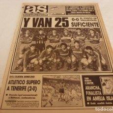 Coleccionismo deportivo: AS(16-4-90)!!!R.MADRID 25 LIGAS !!!VALLADOLID 0 R.MADRID 0 !!!CAMPEONES!!! ABEL(AT.MADRID). Lote 151573370