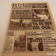 Coleccionismo deportivo: AS(30-4-90)RAYO 2 SEVILLA 1,HUGO SANCHEZ REY DEL GOL,GOROSPE(CICLISMO). Lote 151575634