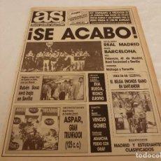 Coleccionismo deportivo: AS(7-5-90)!!!R.MADRID CELEBRA LA LIGA !!!ASPAR(MOTOS)ALVARO PINO(CICLISMO)LLEGÓ URUGUAY.. Lote 151575838