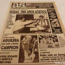 Coleccionismo deportivo: AS(14-5-90)PELLO(CICLISMO) RODAX FICHA POR AT.MADRID.EL R.MADRID EN AMERICA DEBUTA HOY. Lote 151576134