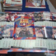 Coleccionismo deportivo: CALENDARIO EL MUNDO DEPORTIVO ( EL BARÇA 99 ) LOS 12 MESES CON LAS FICHAS VER FOTOS. Lote 151650170