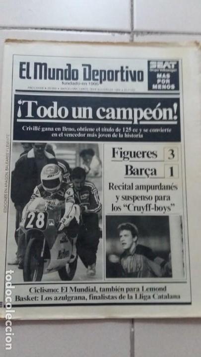 EL MUNDO DEPORTIVO. 28 AGOSTO 1989. FIGUERES 3 BARSA 1 (Coleccionismo Deportivo - Revistas y Periódicos - Sport)