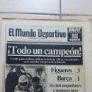 Coleccionismo deportivo: EL MUNDO DEPORTIVO. 28 AGOSTO 1989. FIGUERES 3 BARSA 1. Lote 152094754